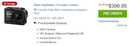 nikon keymission 170 adorama Pre Order Now!