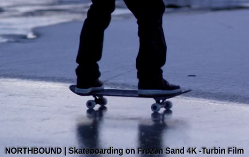 Galaxy S8 & Skateboarding on Frozen Sand