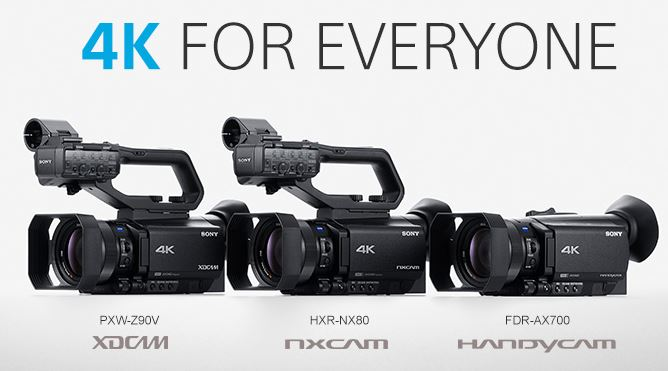 Sony Palm 4k Camcorders