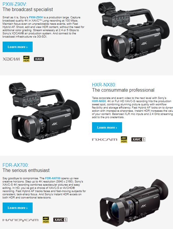 Info on the Parm 4k Corders. Click for larger!