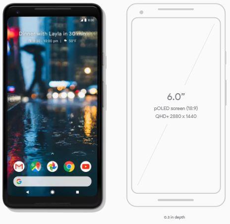 Pixel 2 XL Phone Dimensions!