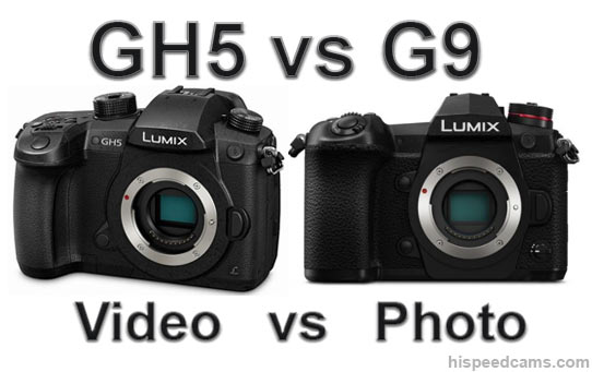 Panasonic G9 vs GH5