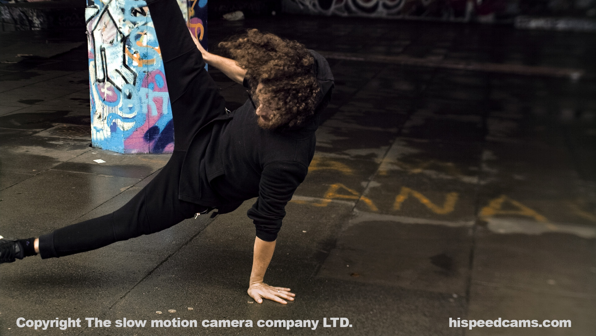 Street Acrobat Frame from the fps4000. DNG RAW Graded by James Benet.