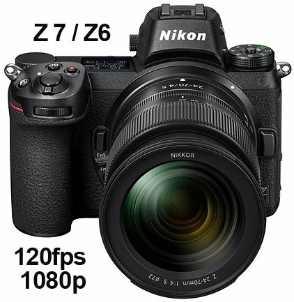 Nikon Z7 and Z6 Mirrorless