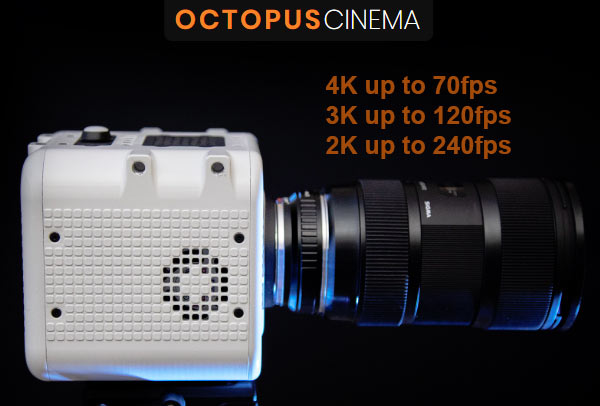 Octopus Cinema Camera Upgradeable Slow Motion